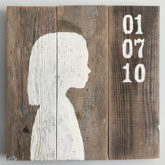 Custom Cameo Silhouette Wooden Sign