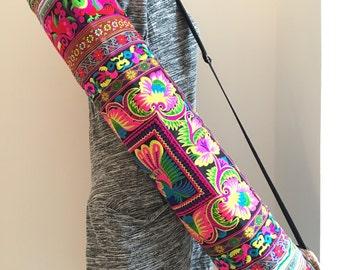 Yoga mat bag ethnic nine Made In Thailand