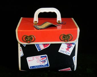 Vintage Alexander Miner MFG. Childs Doll Suitcase The Minerline Vintage Suitcase