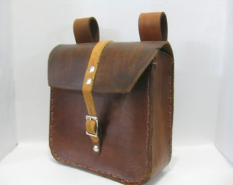 Brown Leather Box Pouch