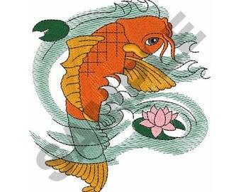 Koi Fish - Machine Embroidery Design