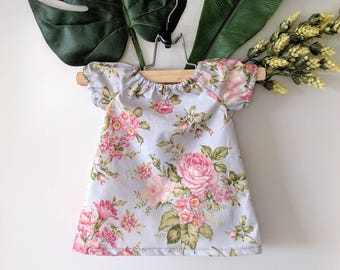 baby dress / baby summer dress / paisan dress / t-shirt dress for baby / baby shower gift / tunic for baby / flower dress / kids clothes