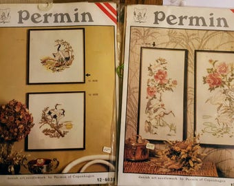 Two Permin Needlepoint Kit's - Incomplete