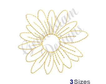 Flower Outline - Machine Embroidery Design