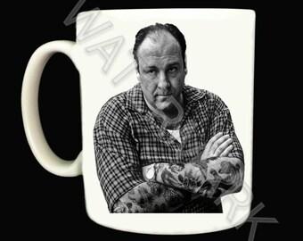 The Sopranos Mug Mugs . Tony . Gangster . Tattooed