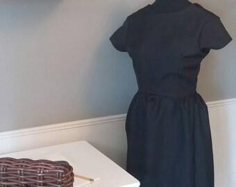 50's style little black dress