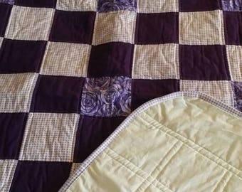Purple 9 patch Quilt
