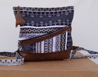 Backpack fabric ethnic and skin
