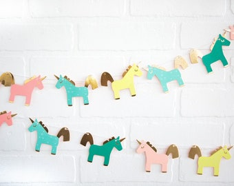 Unicorn Party Banner Set/ Unicorn Party Banner Set/ Unicorn Hanging Banner/ Unicorn Party Decor