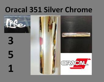 SIlver vinyl crome mirror oracal 351