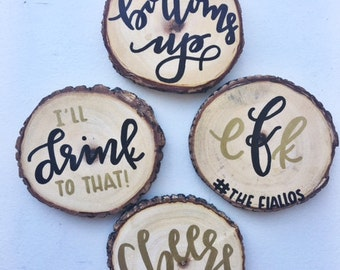 Custom Wooden Coasters (4-Pack)