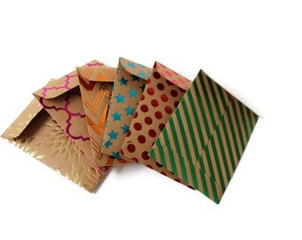 Gift card envelopes, Wedding gift card holders, Metallic Kraft paper, Easter Gift Card Holders, coin envelopes, money envelopes, set of 6