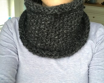 Beautiful Hand Knit Cowl Scarf