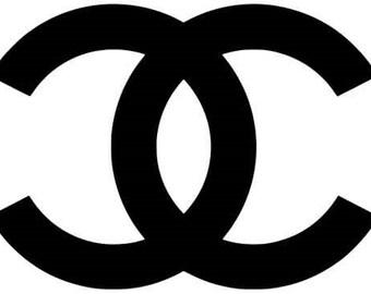"Set of 2 Chanel logo vinyl decal 6"" - 10"""