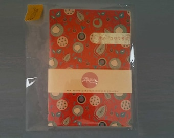 Diary notes inventive and recipes cooking textile on paper placemats