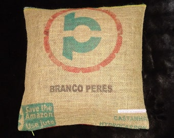 "Coffee sack ""Branco"", ca. 40 x 40 cm"