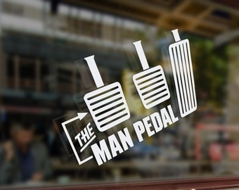 The man pedal Drift Vinyl Stickers Funny Decals Bumper Car Auto Computer Phone Mobile Laptop Wall Window Glass Skateboard Snowboard Helmet