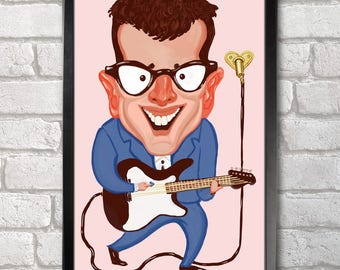 Buddy Holly Poster Print A3+ 13 x 19 in - 33 x 48 cm  Buy 2 get 1 FREE