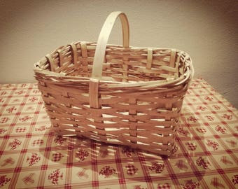 Italian handmade wooden basket