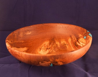 Spalted Oak and Turquoise Bowl