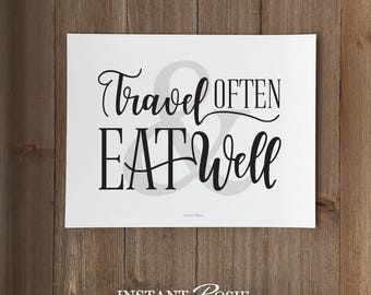 Travel Often and Eat Well - Instant download