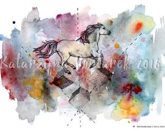 Art Print 'Kucyk i Kubiki' | 'Pony and Cubes'