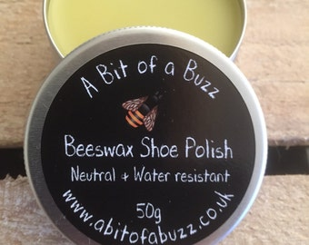 Beeswax Shoe Polish. Neutral & Water Resistant