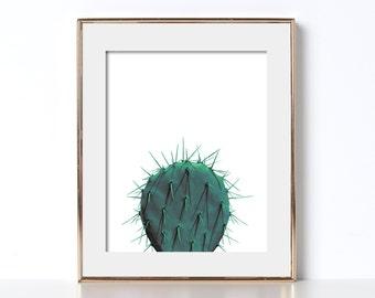 Mint Cactus Print Digital Download Printable Art Feminist Kitchen Decor Outdoor Decor Patio Decor Plant Print Office Print Abstract Artistic