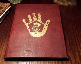 Book of the Dragon Cult - Handbound book with leather cover