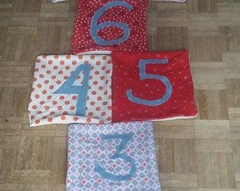 Hopscotch for custom child - made of recycled fabrics