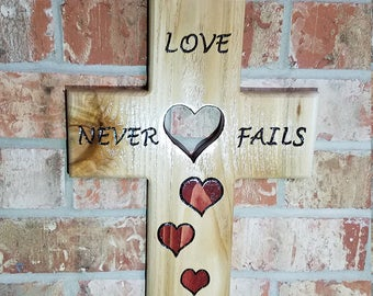love never fails cross