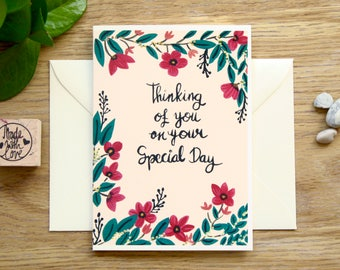 Greeting Card, Special Occasion/Day, Thinking of You, Orchids Illustration