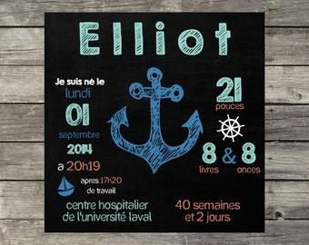 Square of birth (Mini sailor blue model)