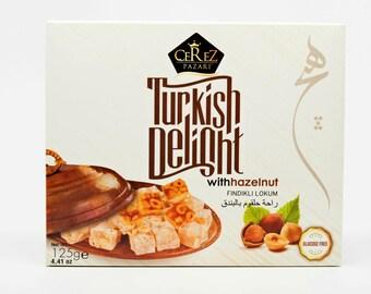 Turkish Delight (Hazelnut) Lokum (4.4 0z)