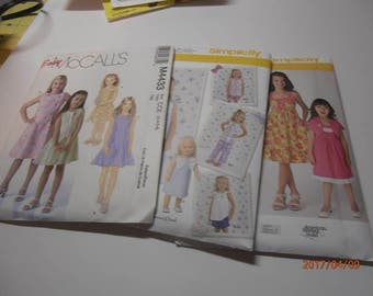 little girls sewing pattern McCall's and simplicity size 3-6