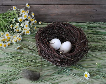 Hand made birds nest, rustic, woodland decor