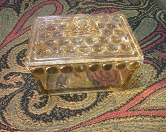 Biscuit jar from red/brown glass 1930s