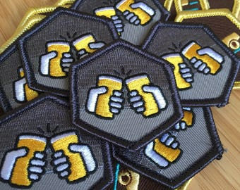 Beergress Platinum Patch - Unofficial Ingress Swag