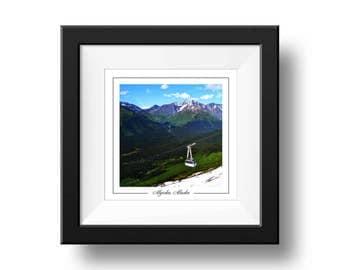Alyeska Alaska Print, Square Wall Print