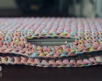 Crochet Notebook Case // Knitted MacBook bag // Laptop Sleeve