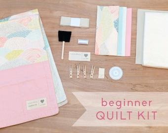 Girl Quilt Kit Diy Project Baby Quilt Kit Bunnies Littlest