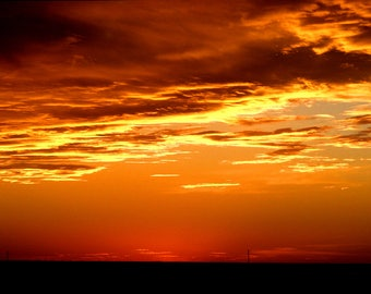 Nebraska Sunset, West of Ogallala, Nebraska USA, - Canvas Gallery Wrap