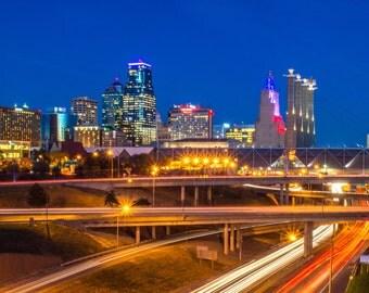 Kansas City Skyline Panoramic Photograph