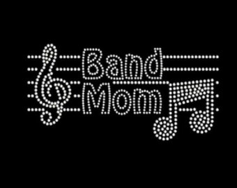 Rhinestone Band Mom Bling Lightweight T-Shirt    or Iron Transfer                                    4Q9Q