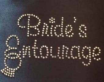 Rhinestone Brides Entourage Ring  Lightweight T-Shirt or DIY Iron On Transfer                                5RZZ/WTBN