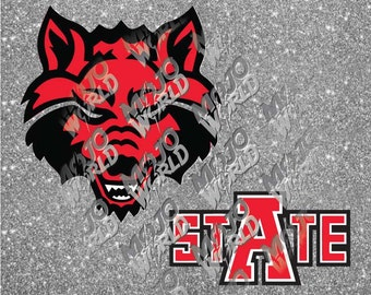 Arkansas State Red Wolves svg dfx jpeg jpg eps layered cut cutting files decal vinyl die cut cricut silhouette