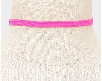 Pink Stretch Choker