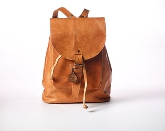 Vintage inspired MyMayan Leather Backpack