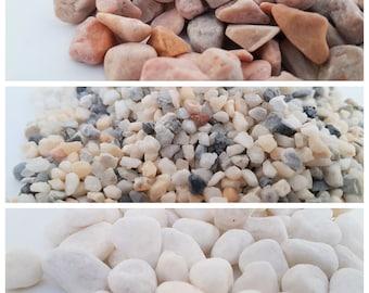 1/2 lb - 1 lb Natural Stones and Pea Gravel for Bonsai Terrarium Succulent Air Plant Crafts DIY Decorative Rocks Garden Accessories