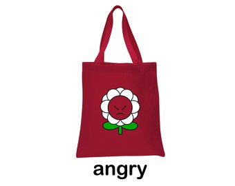 angry flower tote